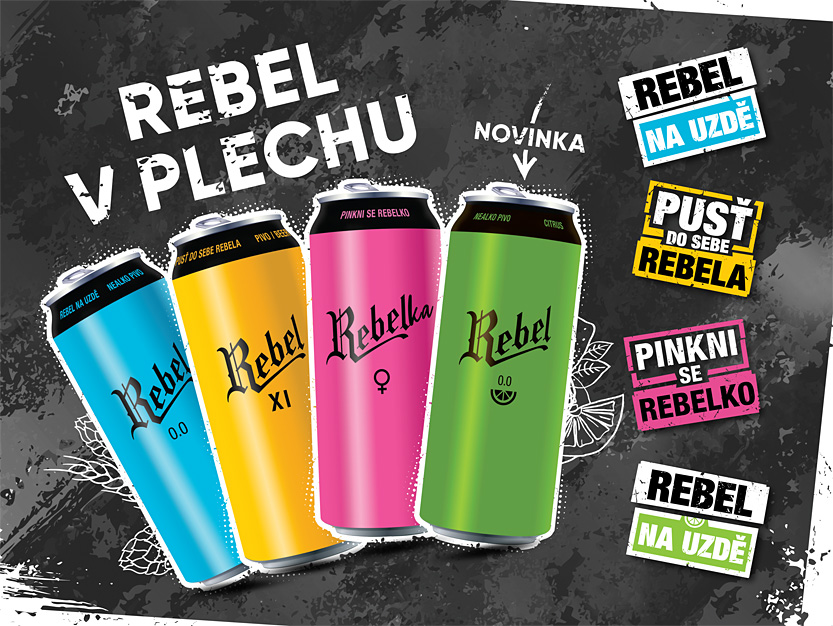 Rebel in cans